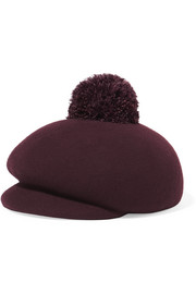 Ogden feather-embellished wool-felt cap