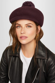 Eugenia Kim Ogden feather-embellished wool-felt cap