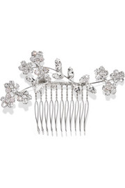 Jennifer Behr Violet rhodium-plated Swarovski crystal hair slide