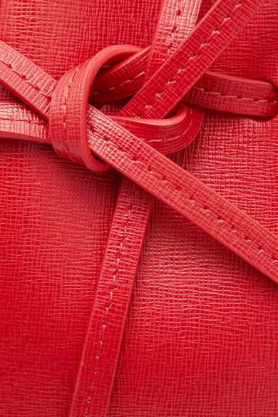 Mansur Gavriel Mini Mini Beuteltasche aus strukturiertem Leder