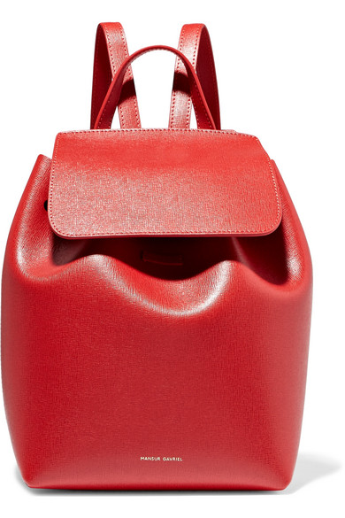 MINI TEXTURED-LEATHER BACKPACK