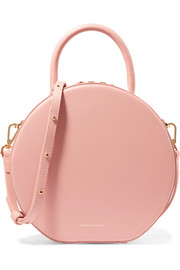 Circle leather shoulder bag