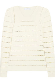 Narciso Rodriguez Pointelle stretch-knit sweater