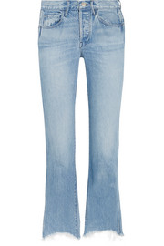 W4 Shelter Austin frayed high-rise straight-leg jeans