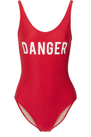 Danger printed swimsuit