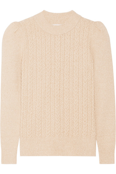 Metallic Cable-knit Sweater - Gold Co Cheap Best Sale Low Cost Visit New Cheap Online Buy Cheap Visa Payment Clearance Fashion Style qtf1Wlbu