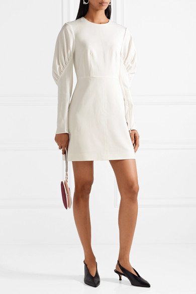 Florence Ruched Stretch-twill Mini Dress - White Tibi Clearance Visa Payment Ebay For Sale Outlet Cheap Quality Free Shipping Enjoy Tdun5Un