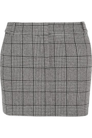 Aldridge checked wool-blend tweed mini skirt
