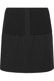 Anson Camille ribbed stretch-knit and wool-blend mini skirt