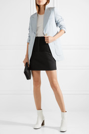 Tibi Anson Camille ribbed stretch-knit and wool-blend mini skirt