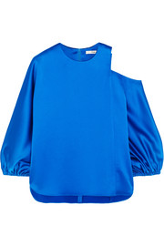 Tibi Celestia cutout satin top