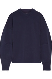 Tibi Gathered wool-blend sweatshirt
