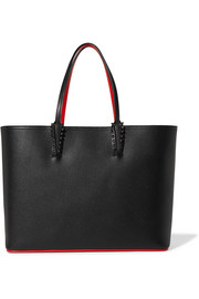 Christian Louboutin Cabata studded textured-leather tote