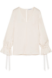 Elizabeth and James Adalina satin blouse
