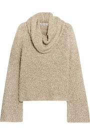 Elizabeth and James Sophie draped linen-blend bouclé sweater
