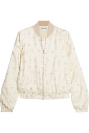 Elizabeth and James Jacque floral-print silk-satin bomber jacket