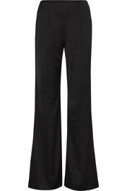 Iven satin flared pants