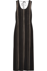 Elizabeth and James Talla open-back striped crepe midi dress