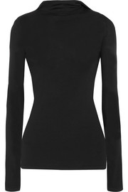 Dion Lee Pinacle open-back knitted hooded top