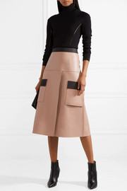 Dion Lee Two-tone leather skirt