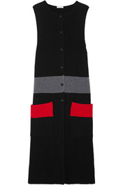 Tomas Maier Color-block ribbed wool tunic