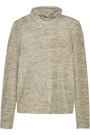 Tomas Maier Metallic jersey turtleneck top