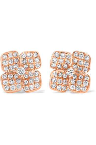 Anita Ko - 18-karat Rose Gold Diamond Earrings - one size