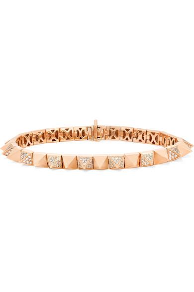 Anita Ko 18kt rose gold small diamond spike bracelet Cheap Sale Cheap UxRobRKe5