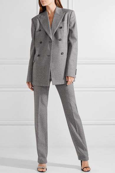 CALVIN KLEIN 205W39NYC | Double-breasted houndstooth wool blazer ...