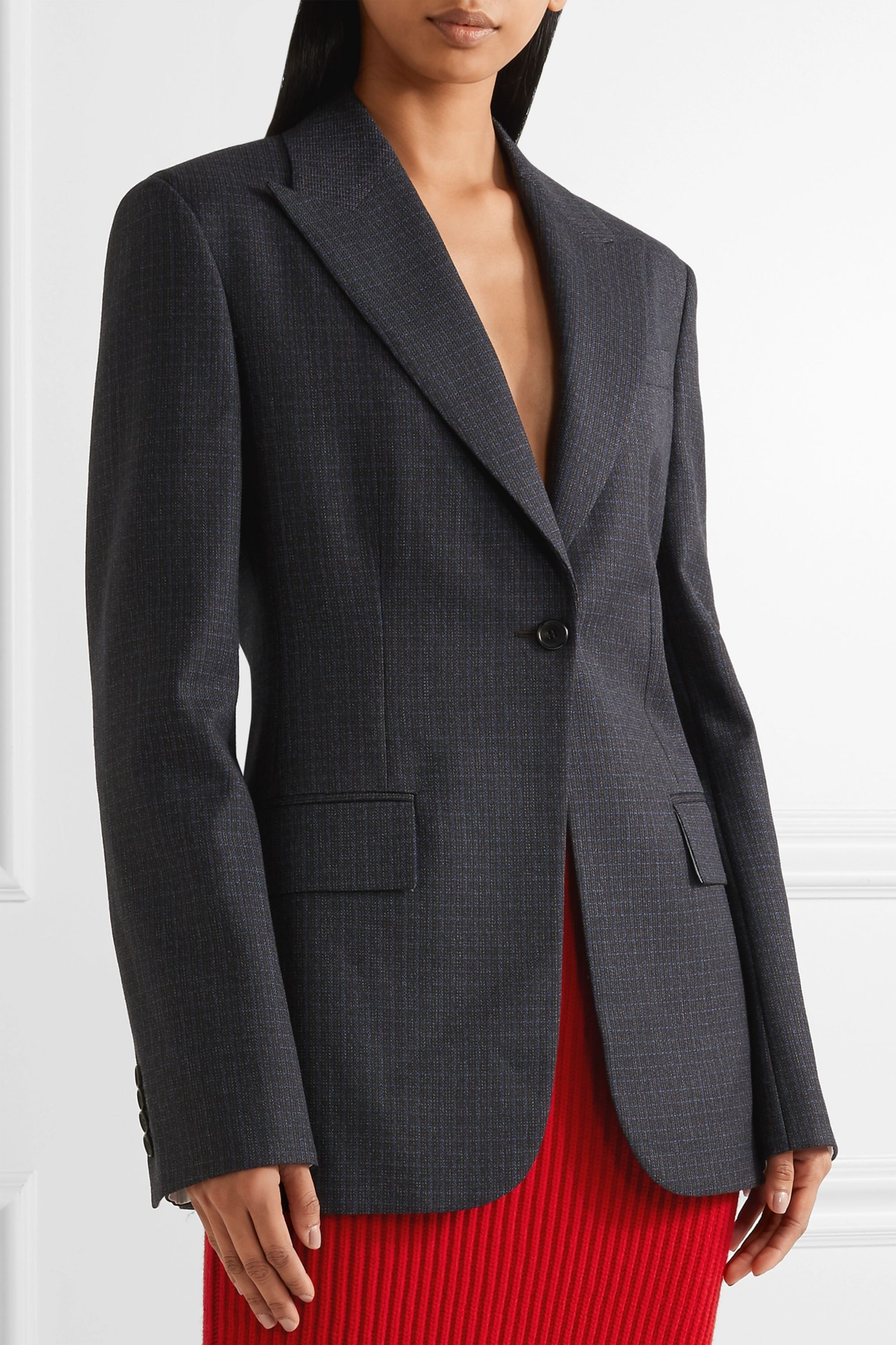 CALVIN KLEIN 205W39NYC Checked wool blazer