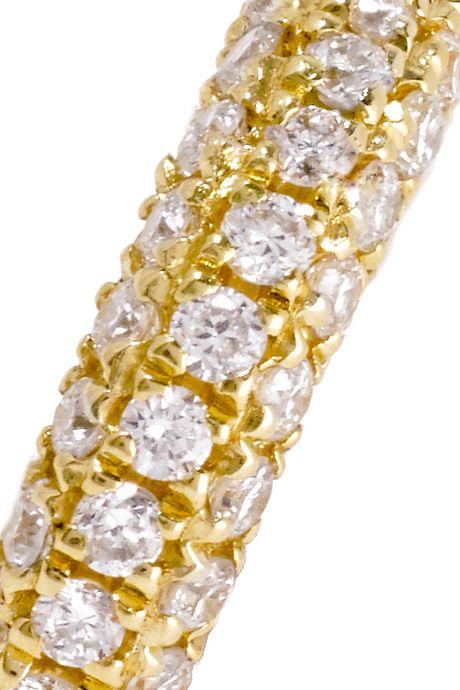 Gold Mini 18-karat gold diamond earring | Maria Tash QA7OTJ