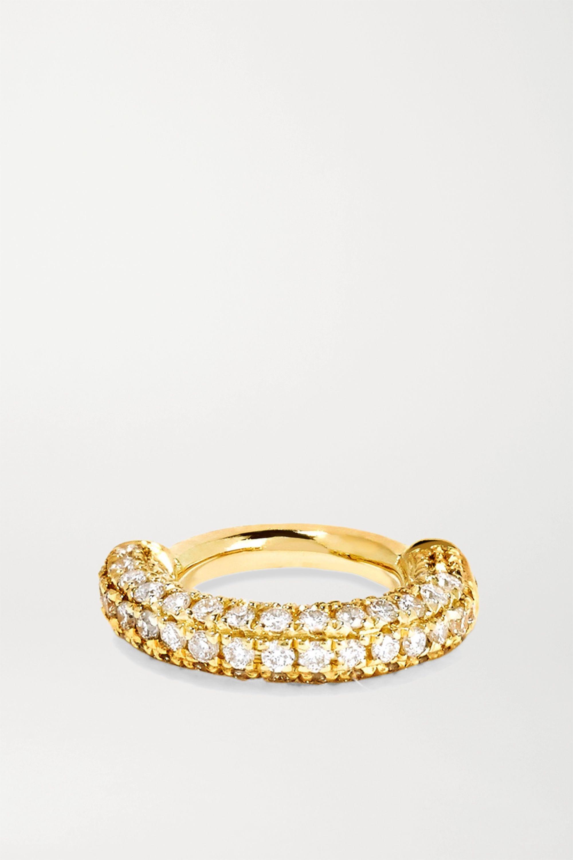 MARIA TASH Mini 18-karat gold diamond earring