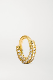 Mini 18-karat gold diamond earring