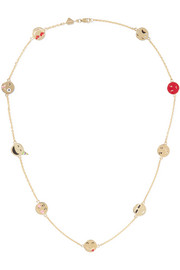 Super Emotional enameled 14-karat gold necklace