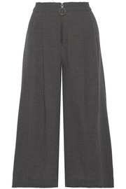 SEA Prince of Wales checked wool culottes