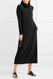 Norma Kamali Stretch-jersey turtleneck midi dress