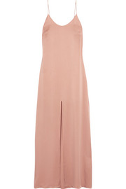 Alice + Olivia Eliza washed-silk maxi dress