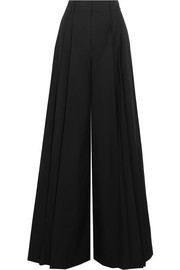 Alice + Olivia Dustin cotton-poplin wide-leg pants