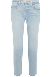 Le Boy cropped mid-rise straight-leg jeans