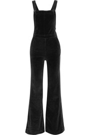 Le Velveteen cotton-blend velvet jumpsuit