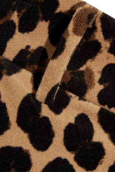0d7d96e5ea91 FRAME. Cropped leopard-print cotton-blend velvet flared pants. £205. Play