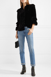 Le High studded cropped straight-leg jeans