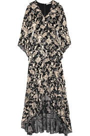 Alice + Olivia Agnes ruffled crepe maxi dress