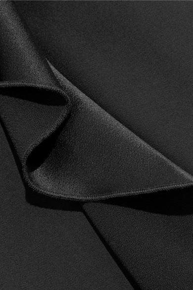 Auslass-Websites Alice + Olivia Sarandon Jumpsuit aus Satin und Crêpe mit Volants Einkaufen 1UbI0
