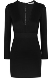 Alice + Olivia Simone stretch-jersey mini dress