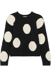 Alice + Olivia Gleeson intarsia wool sweater
