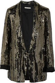 Alice + Olivia Jace sequined satin blazer