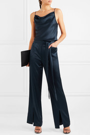 Halston Heritage Draped satin jumpsuit
