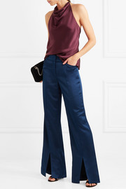 Halston Heritage Satin wide-leg pants