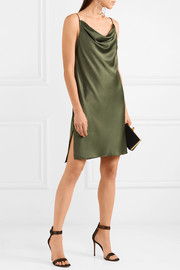 Halston Heritage Draped satin mini dress